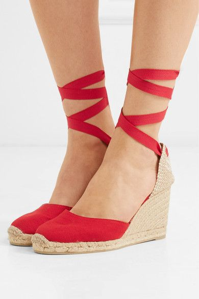 09dcafff3 Castañer - Carina 80 canvas wedge espadrilles | Products ...
