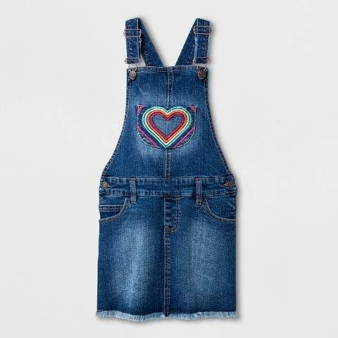 Cat and jack medium denim Overalls girls