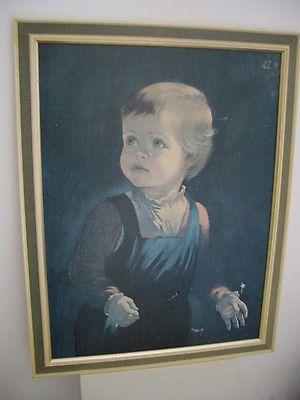 #Vintage #original framed print #1960s child hood anna zinkeisen tretchikoff era,  View more on the LINK: http://www.zeppy.io/product/gb/2/252109088508/