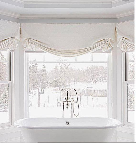 Faux Relaxed Roman Valance With Wings Faux Roman Shades