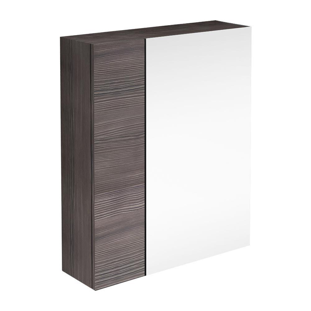 Brooklyn 600mm Bathroom Mirror Fascia Cabinet Grey Avola Bathroom Mirrors Victorian And Gray