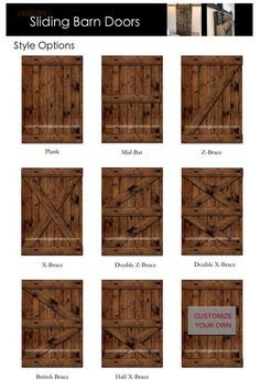 Rustic Sliding Barn Door - Custom made to fit your style