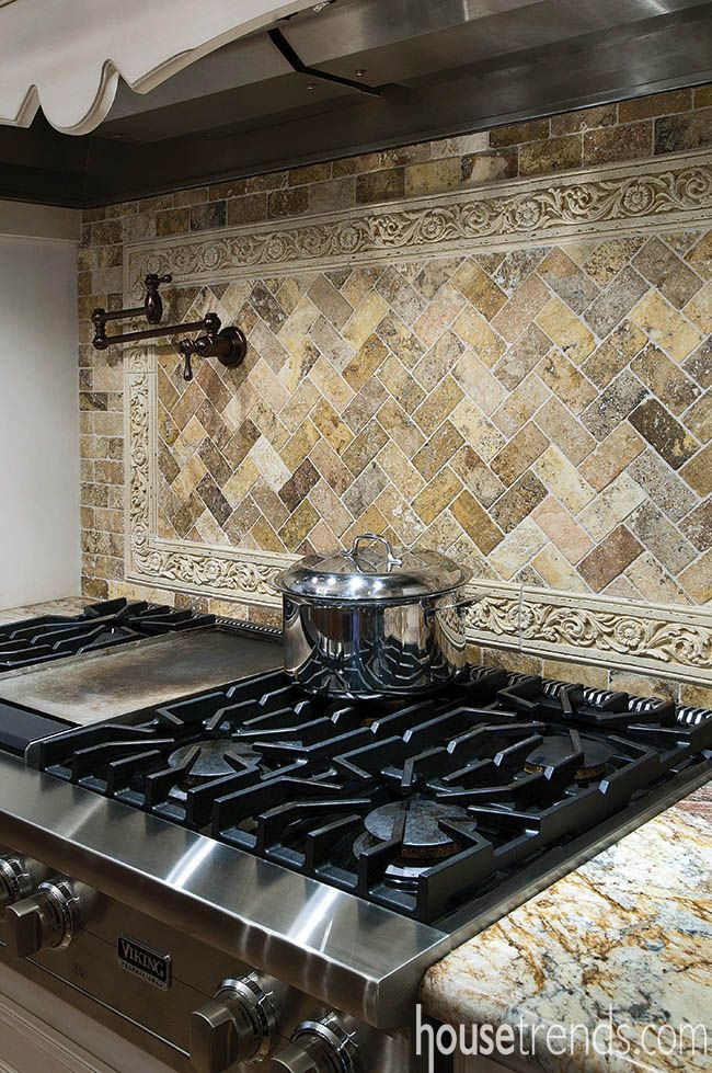 Backsplash :: Viking Cooktop | Kitchen Backsplash ideas | Pinterest ...