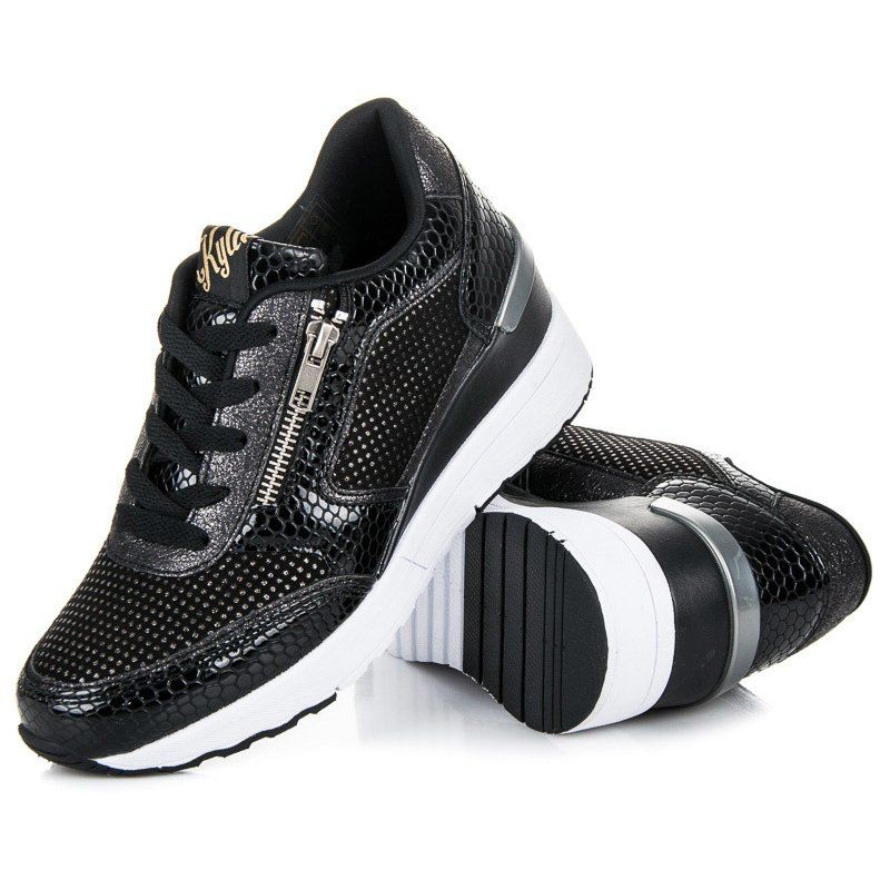 Kylie Buty Sportowe Na Koturnie Czarne Sneakers Shoes Balenciaga