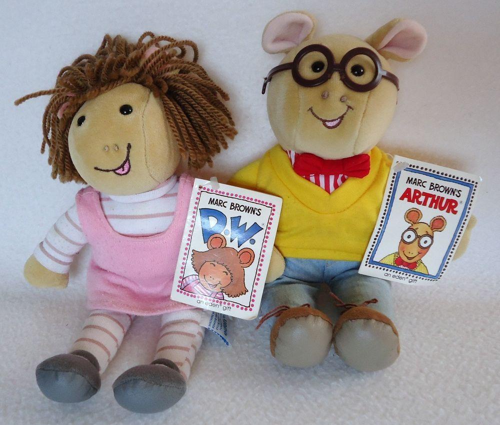 Vintage Eden Arthur D W Aardvark 1996 10 Marc Brown Plush Stuffed Animal Pbs Eden Plush Stuffed Animals Animals Plush