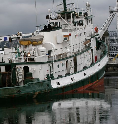 Tugboat Returns From Alaska To Seattle Harbor