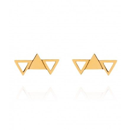 So obsessed with triangle earrings!