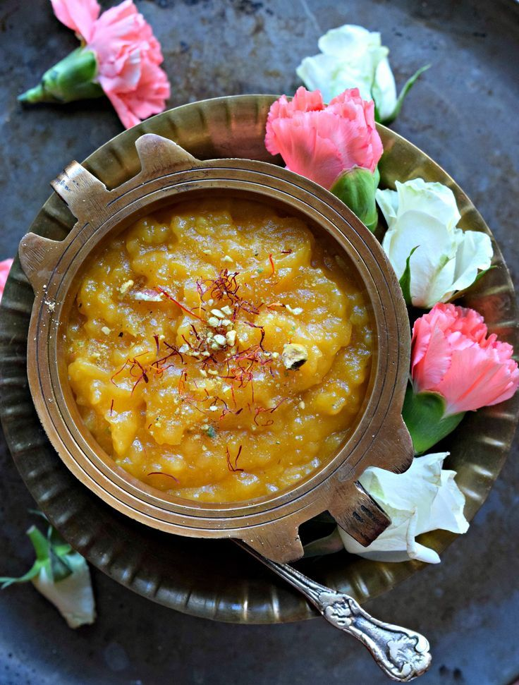 Aval Kesari/Poha Kesari/Beaten Rice Pudding is an easy Indian sweet pudding made using beaten rice flakes. This delicious dessert in ready within minutes.