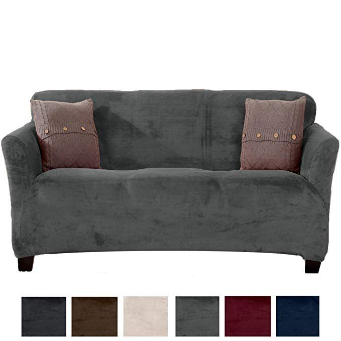 Magnificent Great Bay Home Modern Velvet Plush Strapless Slipcover Form Onthecornerstone Fun Painted Chair Ideas Images Onthecornerstoneorg