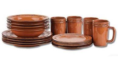 Western Dishes Montana Silversmiths Rustic Ranch Dinnerware 16 piece ...