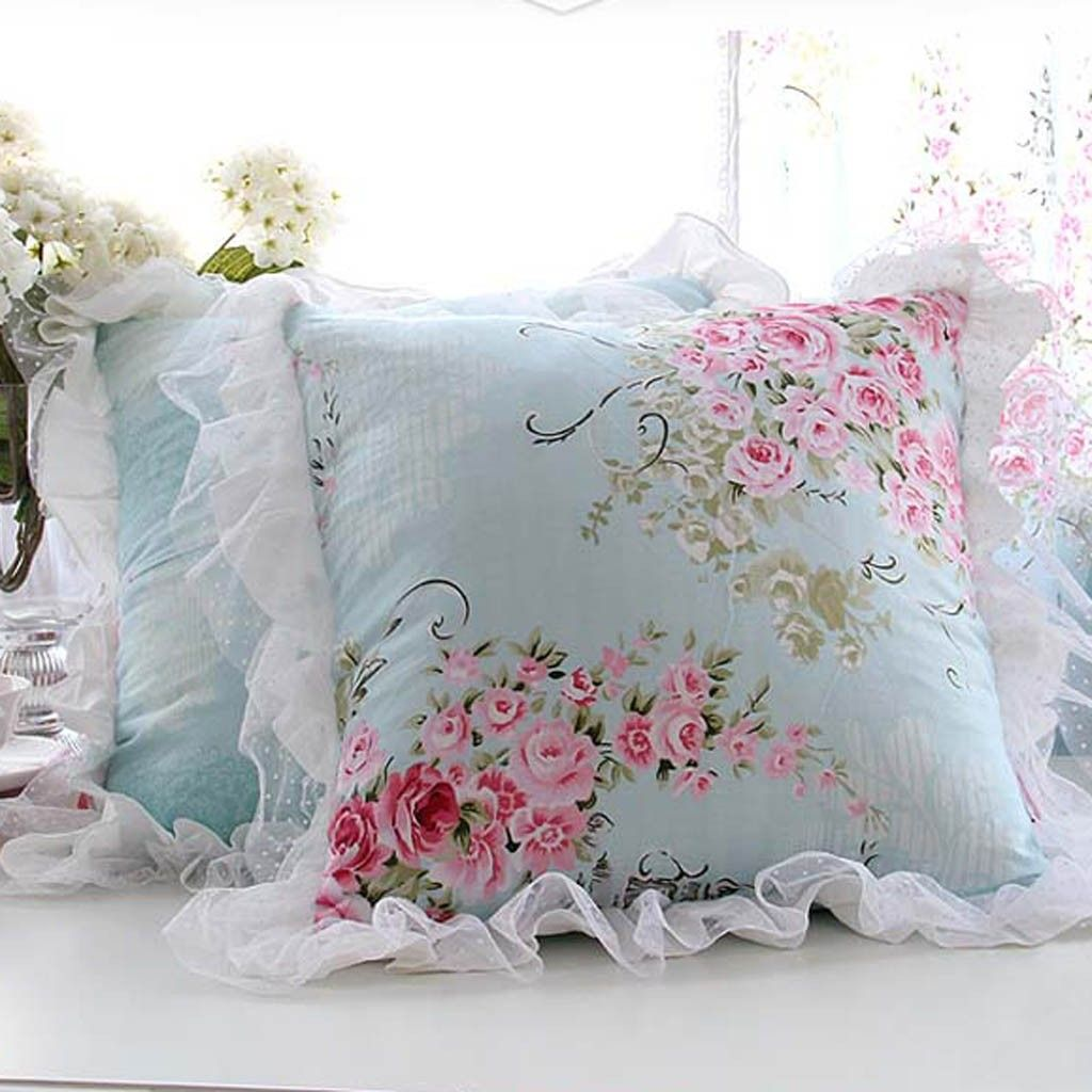 Decorative Pillows With Ruffles : Victorian Ruffle Cushion Cover Ruffles, Victorian and Pillows