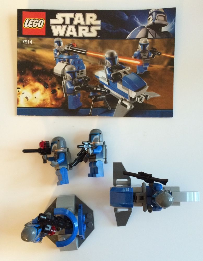 Star Wars Lego Set 7914 Mandalorian Battle Pack Four Trooper Mini