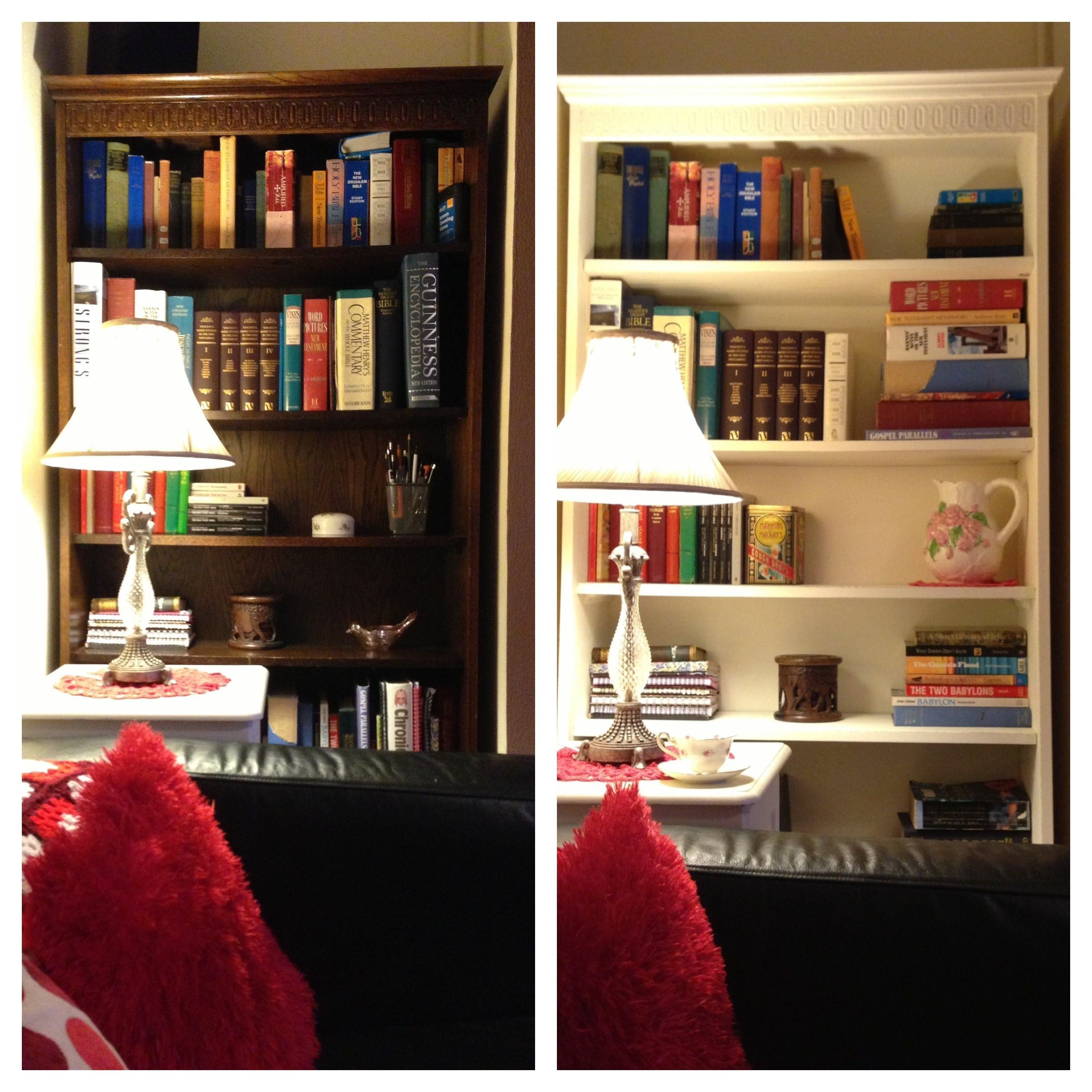 I upcycled my big bookcase by making my own chalk paint