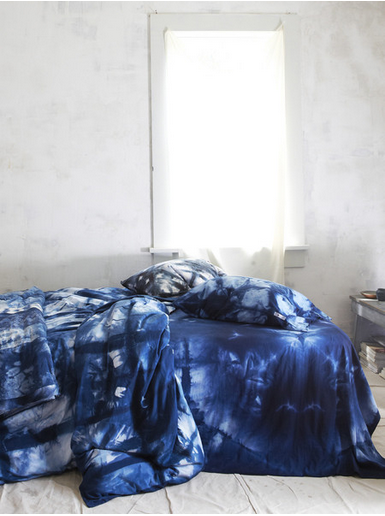 Indigo Itajime Hand Dyed Duvet Cover Pillowcases