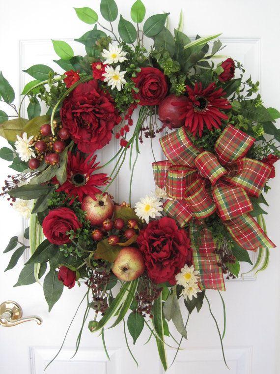 Four Season Wreath Front Door Wreath Free Shipping Kitchen Door