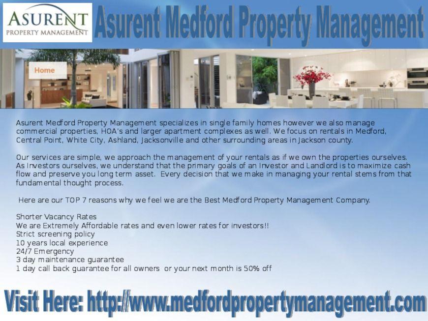 Asurent Medford Property Management delivers the most