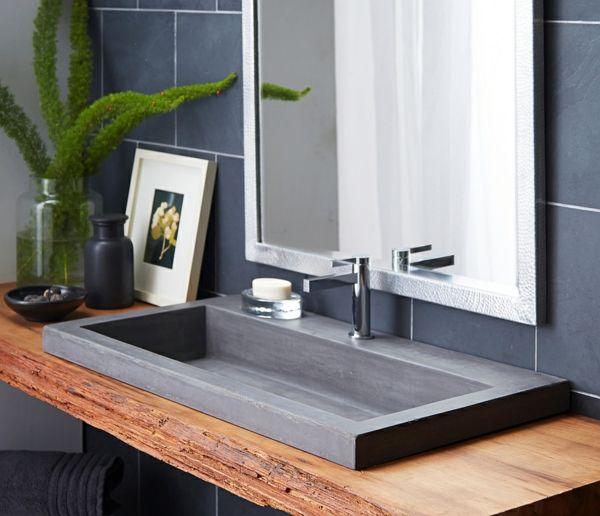 moderne waschbecken badezimmer hand gefertigt | bad | pinterest, Hause ideen