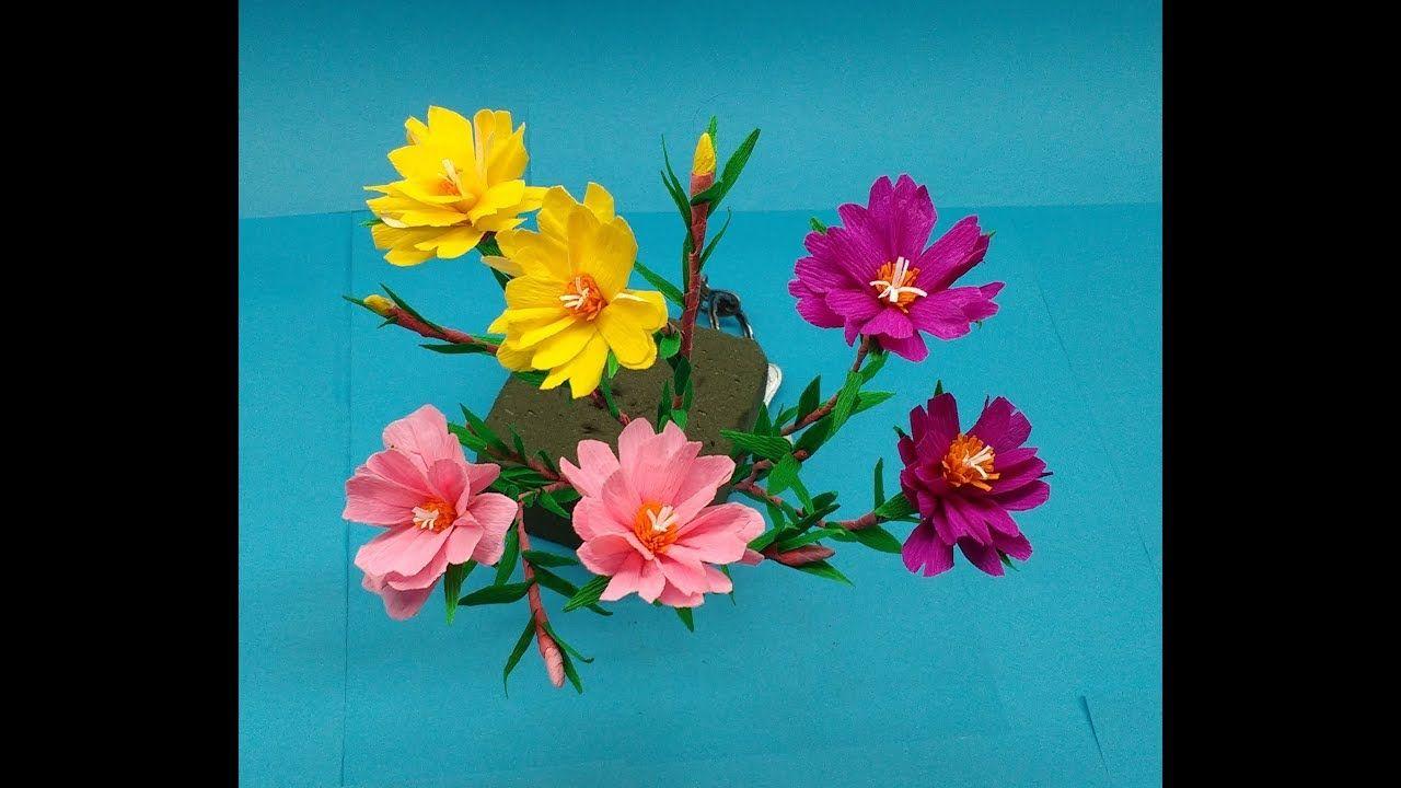 How To Make Paper Flowers Moss Rose Portulaca Flower 208