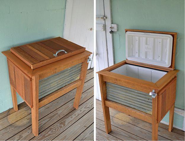 diy cooler ideas patio cooler stand diy backyard furniture ideas by