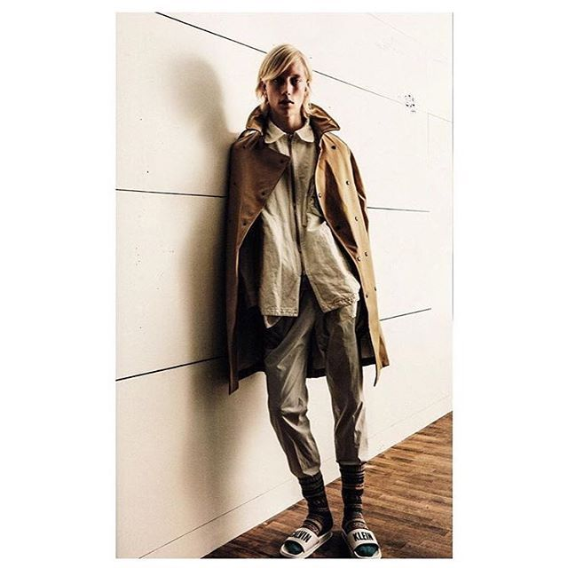 Our spirits were lifted when we laid eyes on this beautiful picture featuring our brand new Ture trenchcoat. Featured in the latest issue of @kingmagsweden by Swedish styling icon @lalljohn and future icon @qhrismagsino  The Ture trench is finally available at Stutterheim.com (see link in bio). Hurry to get it before it's gone