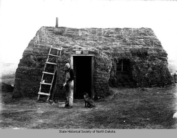 Jim Spitzer And Sod House Near Rice Lake N D Home On The Range