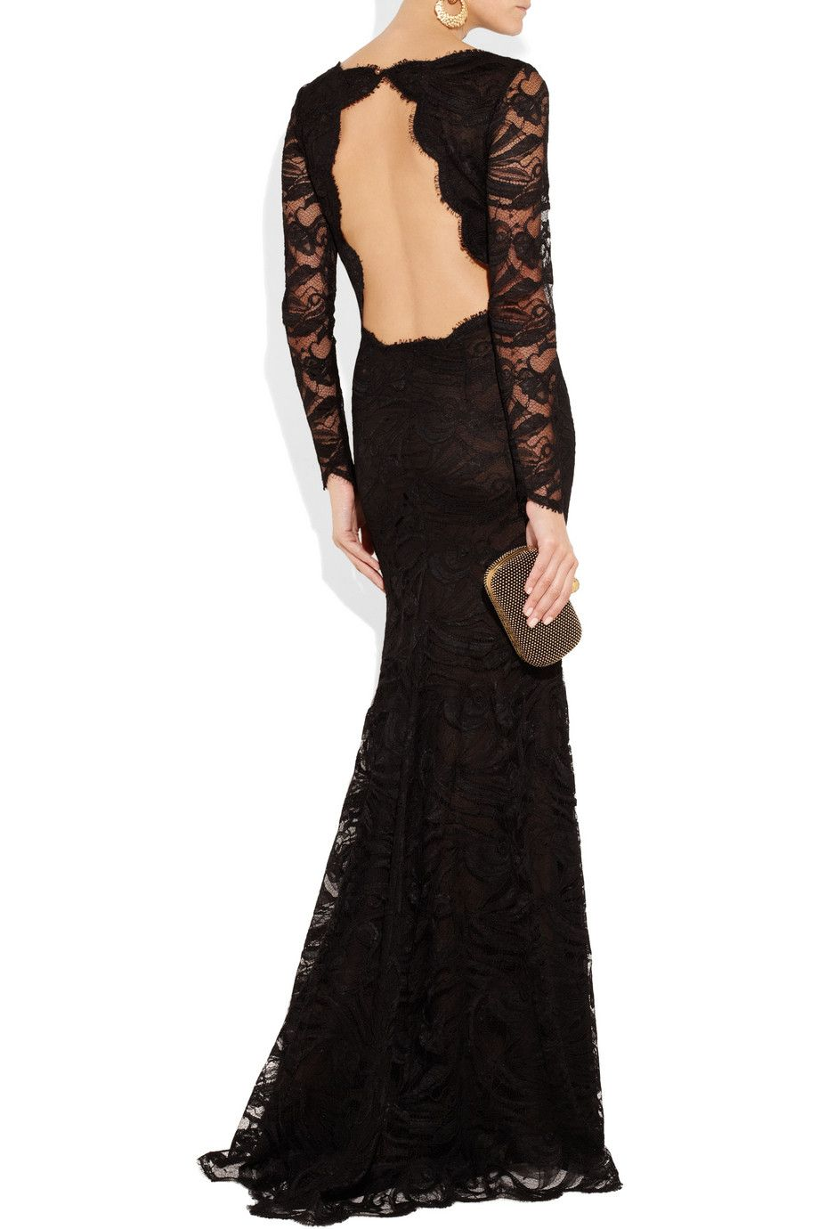 Emilio pucci backless guipure lace gown back simply amazing