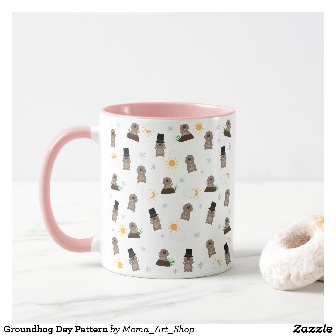 Groundhog Day Pattern Mug