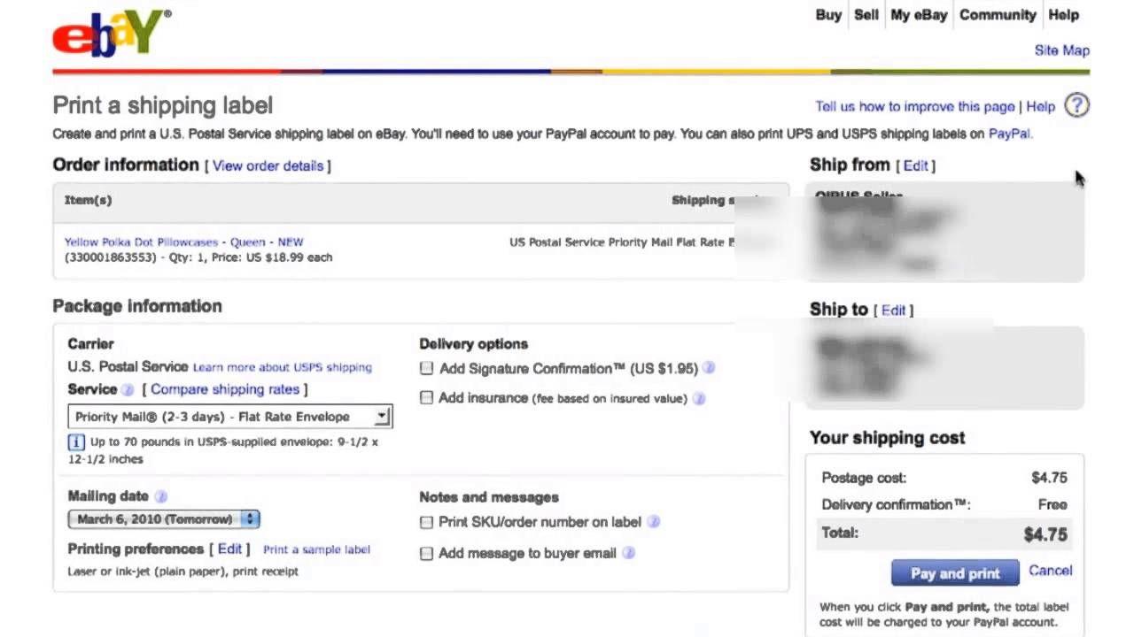 Ebay Prepaid Shipping Label Shipping label, Labels, Ebay