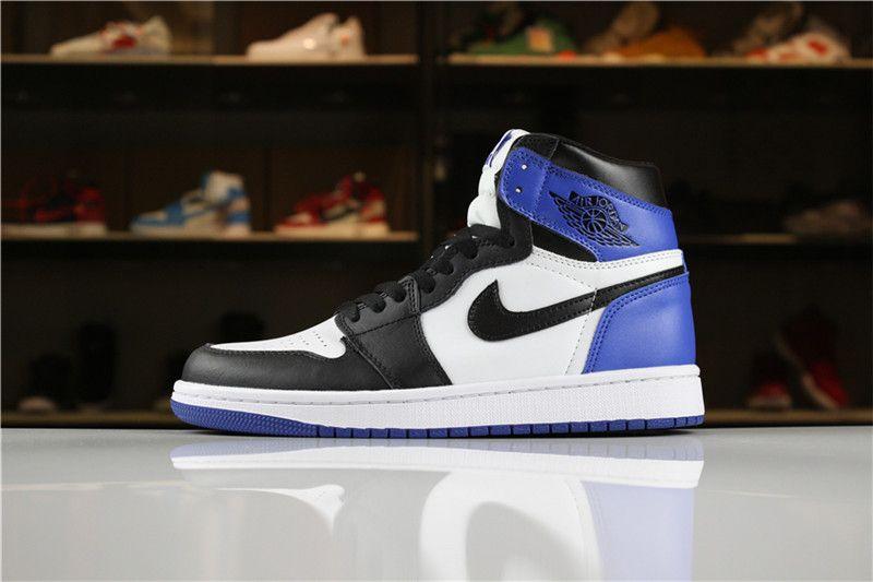 Men S Air Jordan 1 Retro High Og Summit White Black Blue Moon Air Jordans Nike Air Max Jordan Nike Shox Shoes