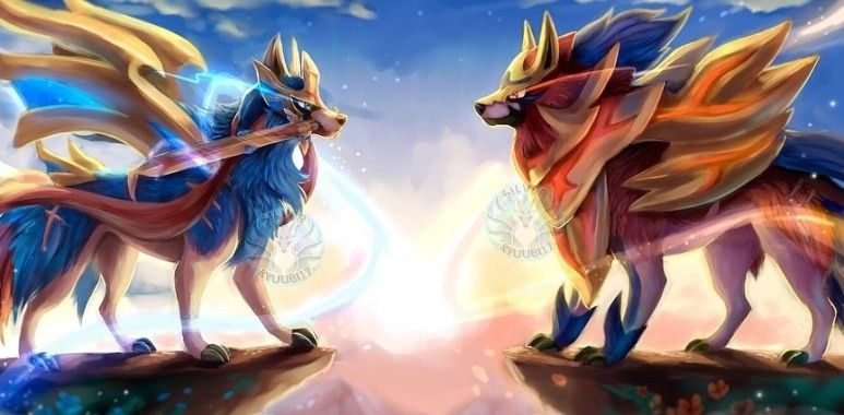 Zacian And Zamazenta Articuno Pokemon Cute Pokemon Wallpaper Pokemon Drawings