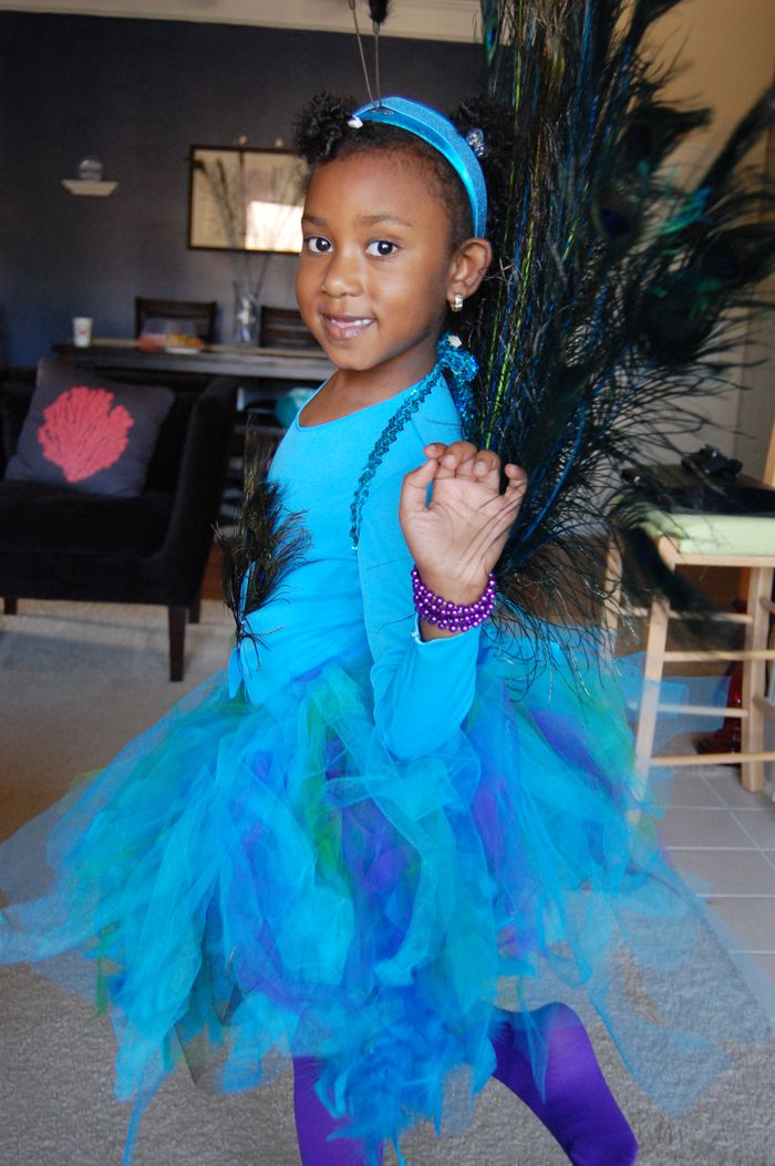 Handmade awesomeness check out my diy peacock costume for Unique childrens halloween costume ideas