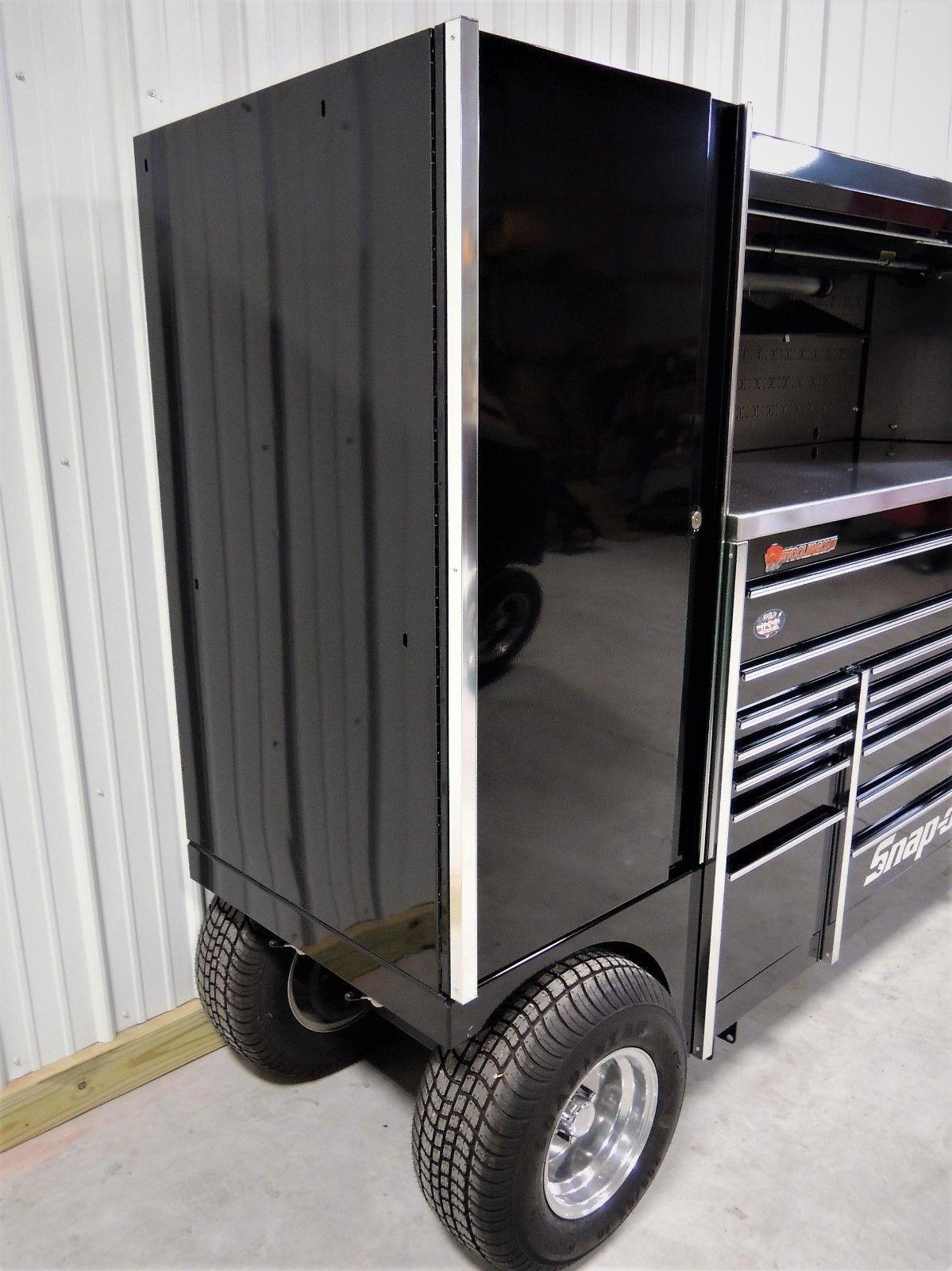 Snap On Black Triple Bank Tuv Pit Box Tool Wagon Tool Box We Ship Ebay Tool Box Tool Storage Tools