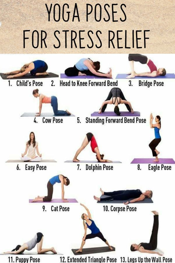 Easy Yoga Poses For Stressed Out Moms Yoga Poses For Beginners Easy Yoga Poses Easy Yoga Workouts Yoga Poses