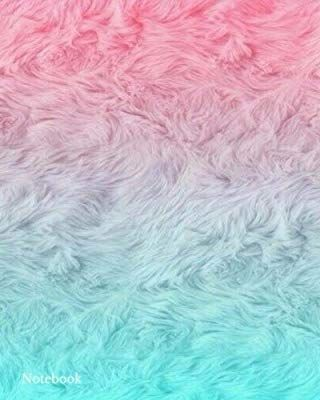 Notebook: Tricolour White Pink Blue Fur Effect College Ruled Composition Notebook Journal (Notebooks)