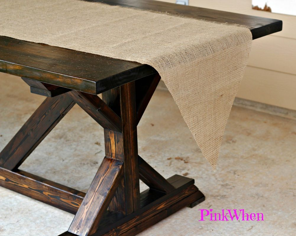 How to sew a table runner - How To Make A No Sew Burlap Table Runner