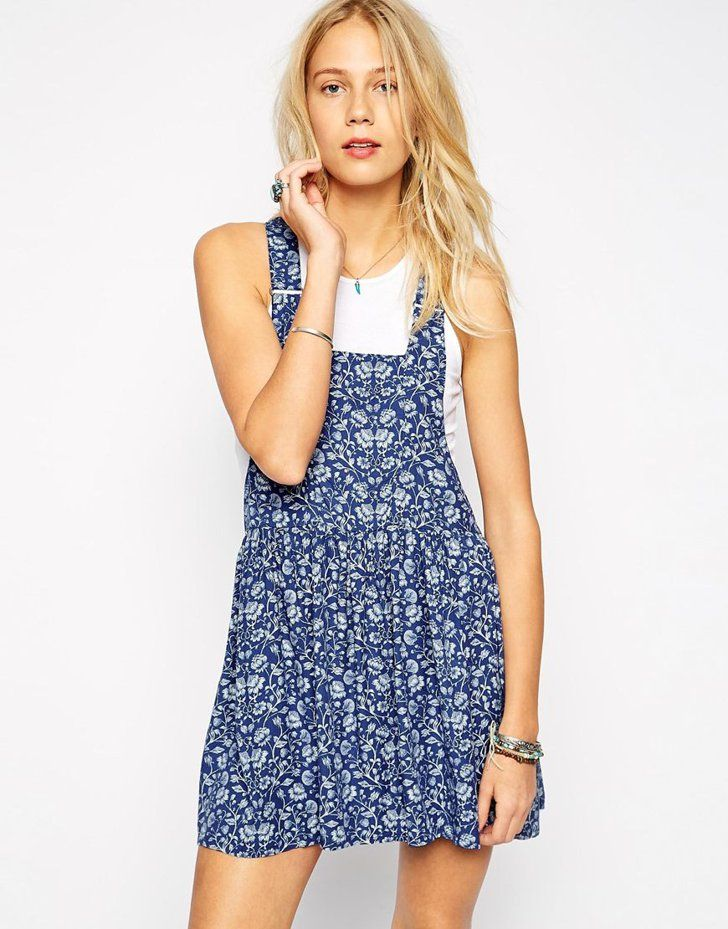 b67cd3359d Pin for Later  Forget What You Thought You Knew About Dungarees  They re Not  Just For Mechanics Pepe Jeans Floral Dungaree Dress Pepe Jeans Floral  Dungaree ...