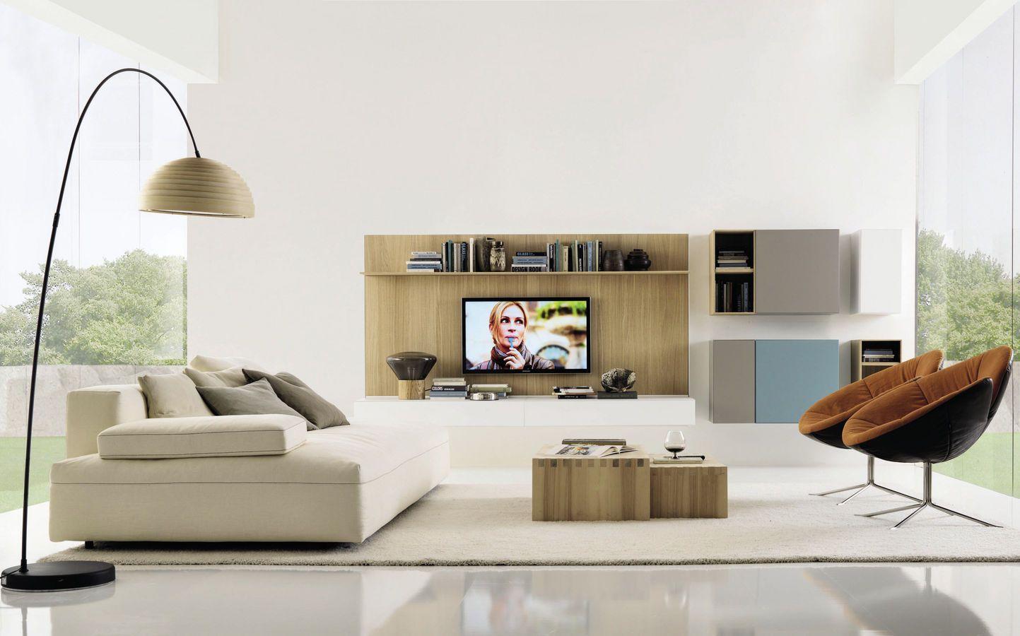 Contemporary Tv Wall Unit Euromobil Interior Design Concept Italian