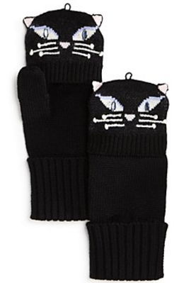 kate spade new york Cat Pop-Top Mittens