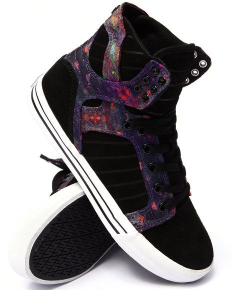 2f08f898bf6 Supra - Skytop Multi Color Aurora Print Sublimated Suede and Canvas Sneakers
