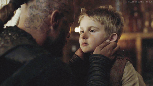 Ragnar & his son Ubbe