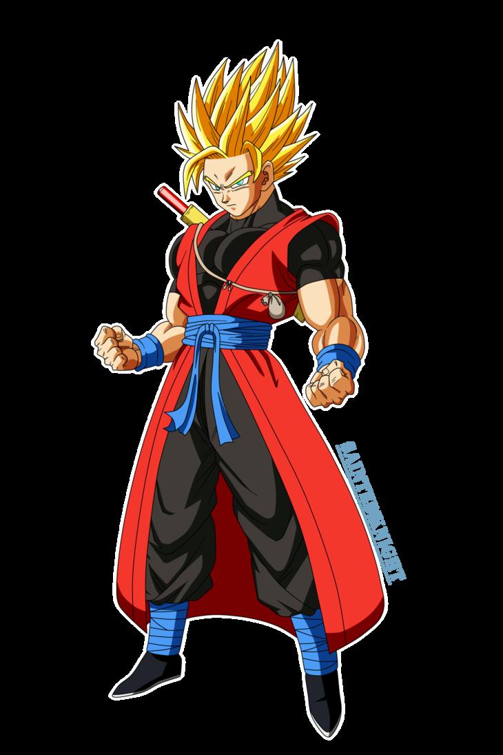 Dragon Ball Heroes Xeno Goku Ssj Render By Saintedknight