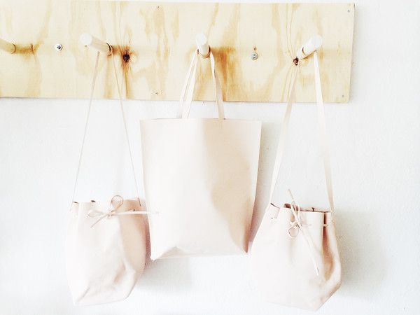 MATINE RAW LEATHER TOTE