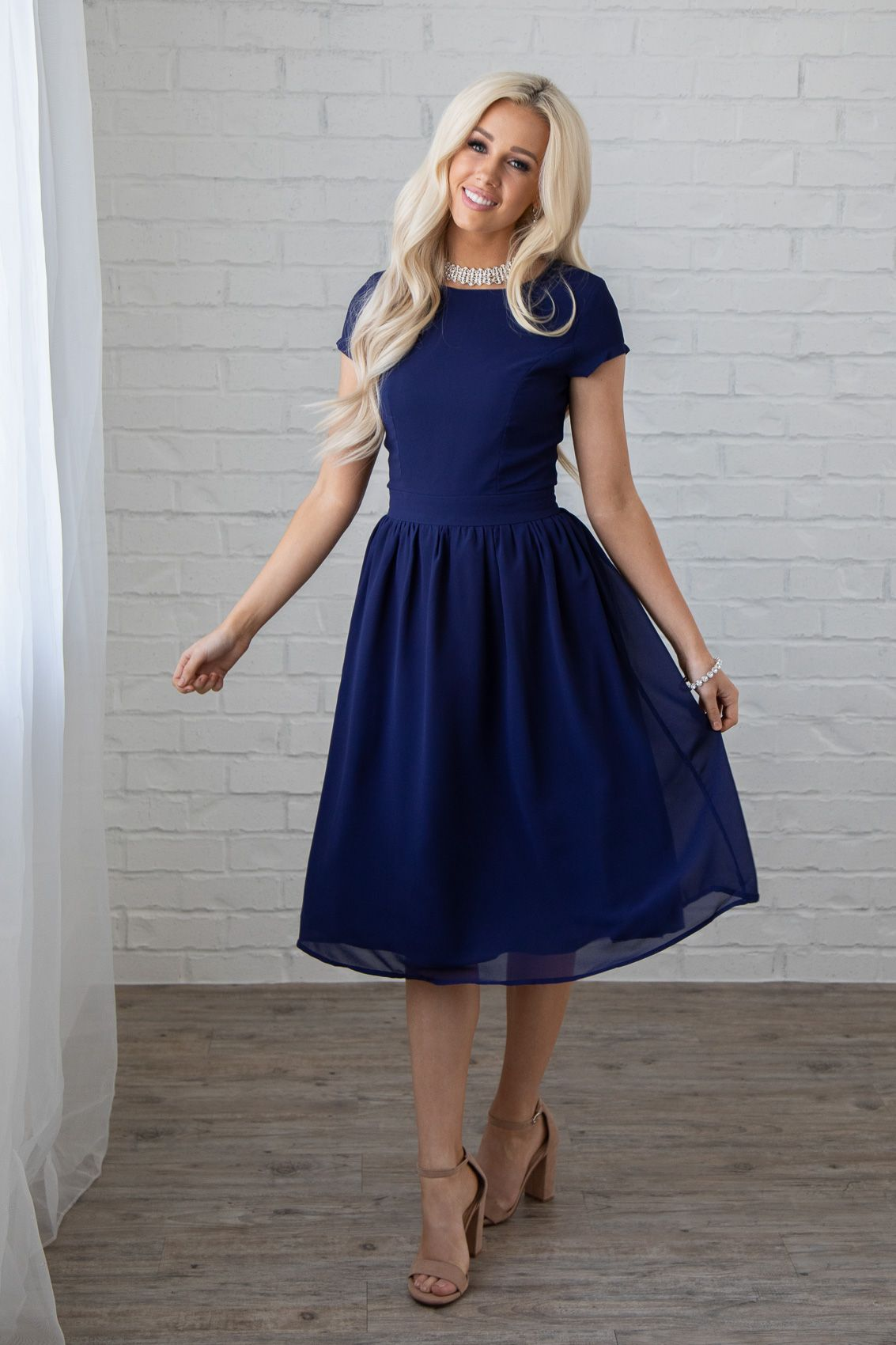 """JenClothings """"Lucy"""" Semi-Formal Modest Dress or Bridesmaid Dress"""