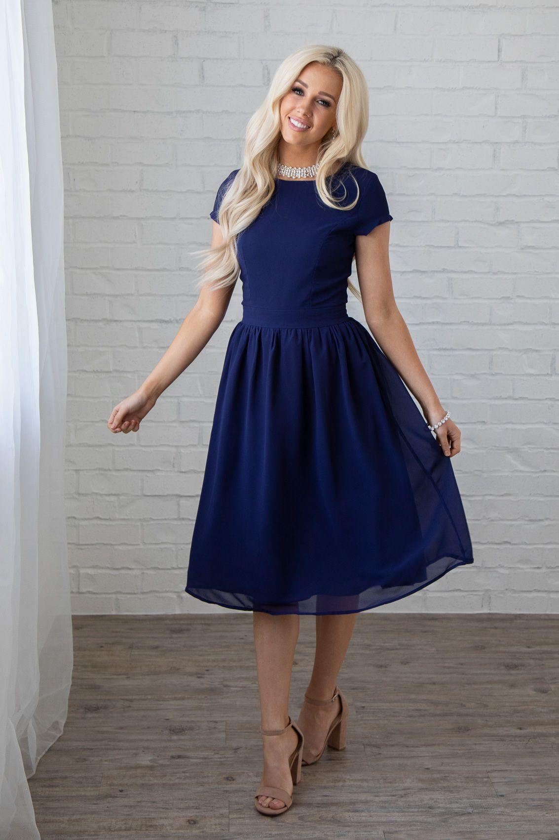 Long navy dress for wedding  JenClothingus