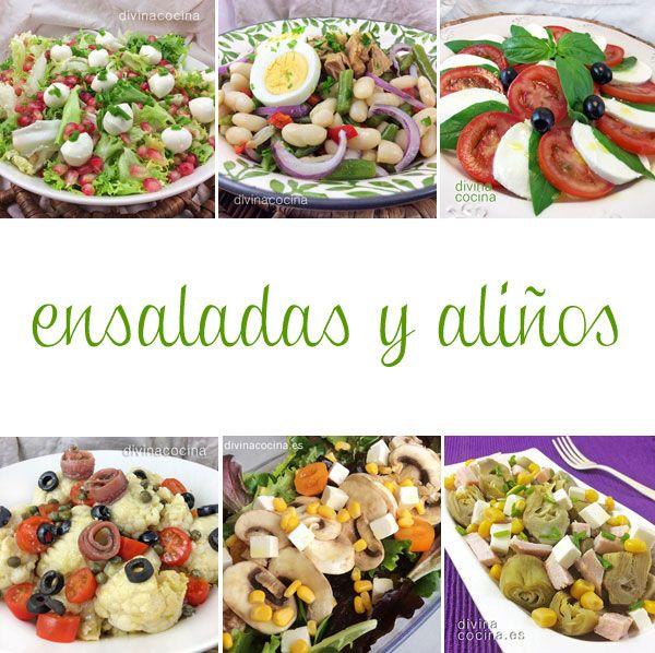 Muchas recetas de ensaladas y ali os para tus cenas for Cenas frias ligeras