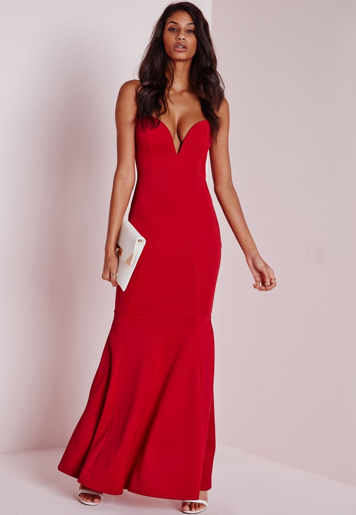 Missguided Sweetheart Neck Maxi Dress Red Maxi Skirt Dress Formal Dresses Classy Red Dress Maxi [ 1680 x 1160 Pixel ]
