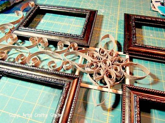 Faux Metal Filigree Frame Tutorial