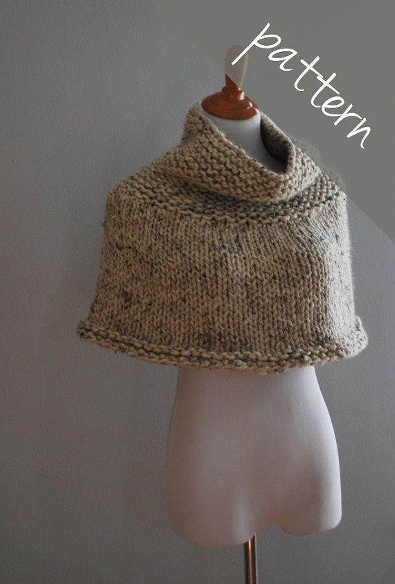Knitting PATTERN Poncho Cape Chunky Cape by AshleyLillisHandmade, USD5.50 Kni...