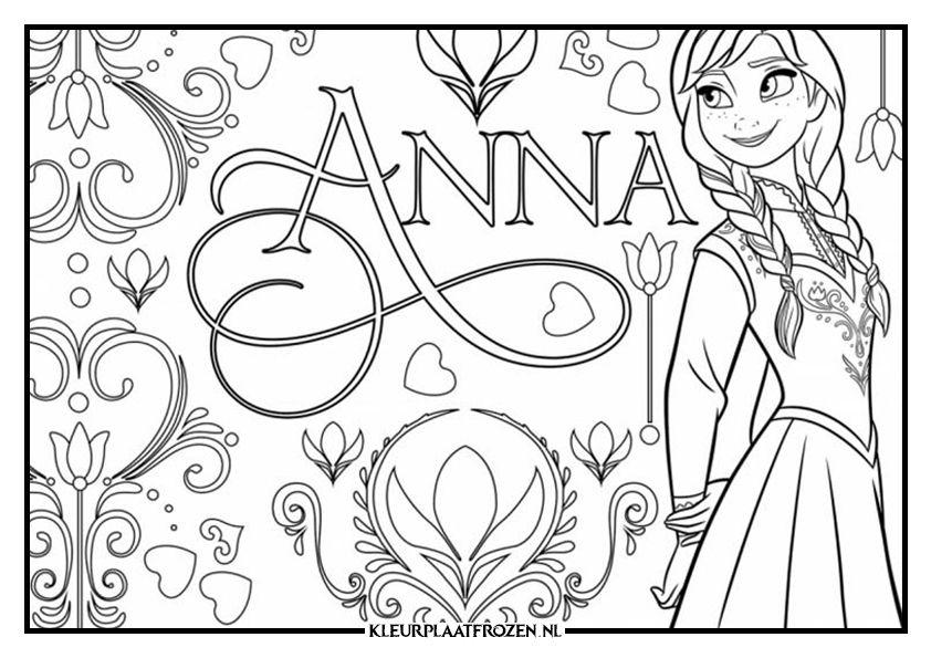Anna Kleurplaat Uitprinten Op Kleurplaat Frozen Kleurplaten Frozen Animatiefilms