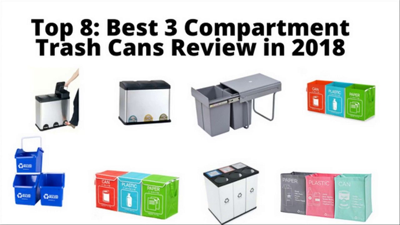top 8 best 3 compartment trash cans review in 2018 best kitchen rh pinterest com